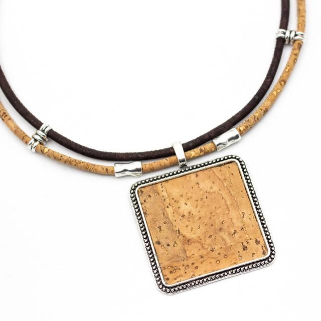 Natural Cork Sticks Women's Necklace
