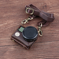 New Leather Protective Case For Gopro Hero 4 3 Action Camera With Lens Cover And Sling