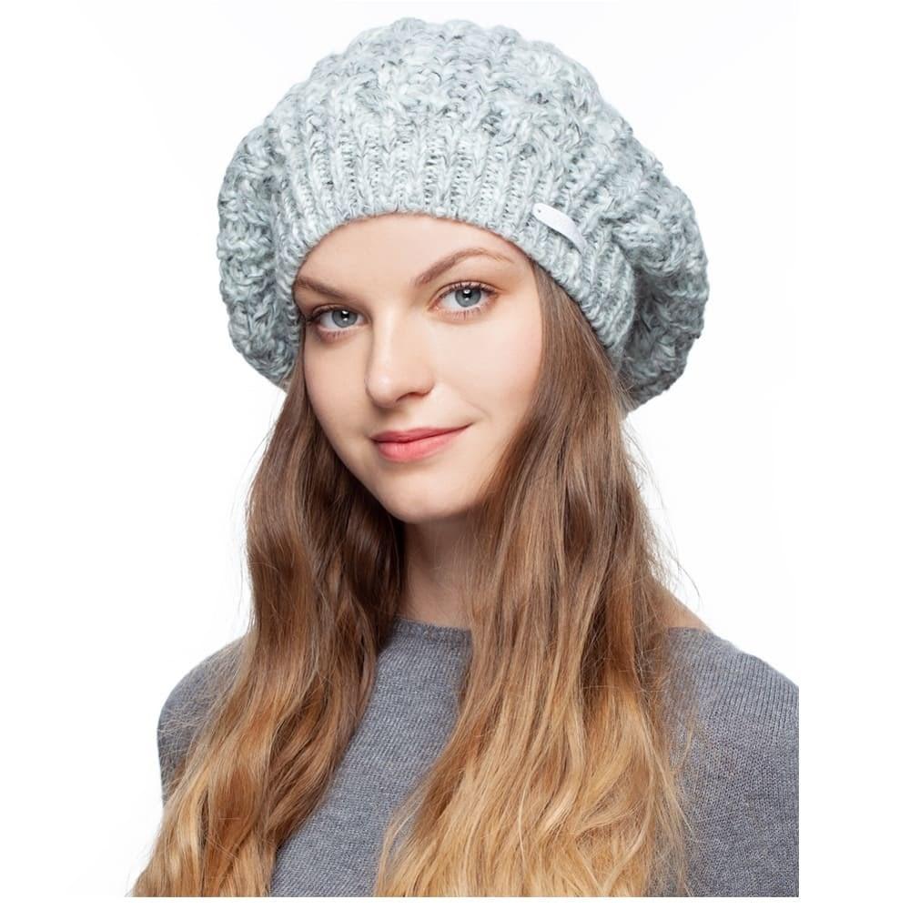 Beret coarse knitted Noryalli (St. Gray) hat cap noryalli light gray