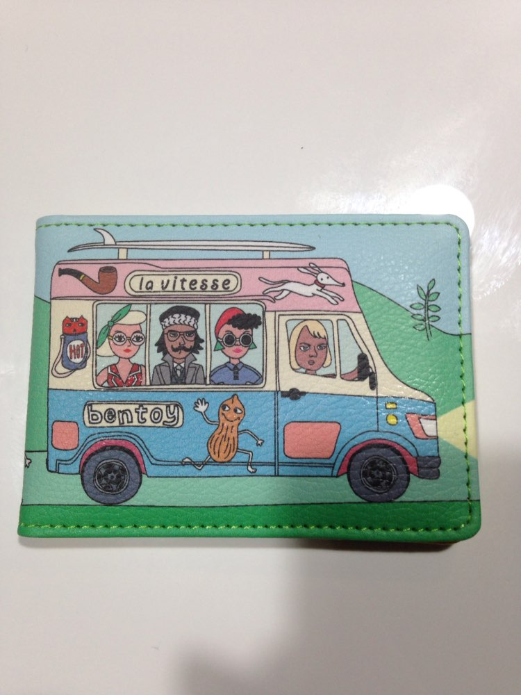 Personality Funny Character Women Business Card & ID Holders Wallet Designer Driving Licence Mini Pocket Credit Card Case Pocket photo review