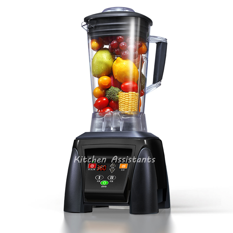 2200W GERMAN Motor 3HP BPA FREE commercial smoothies power food mixer juicer electric food processor professional blender commercial blender mixer juicer power food processor smoothie bar fruit electric blender ice crusher