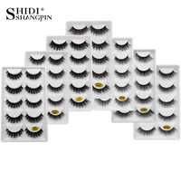 SHIDISHANGPIN naturel vison cils moelleux 3D cils Reasuble 3D vison faux cils complet professionnel maquillage Maquiagem Cilios