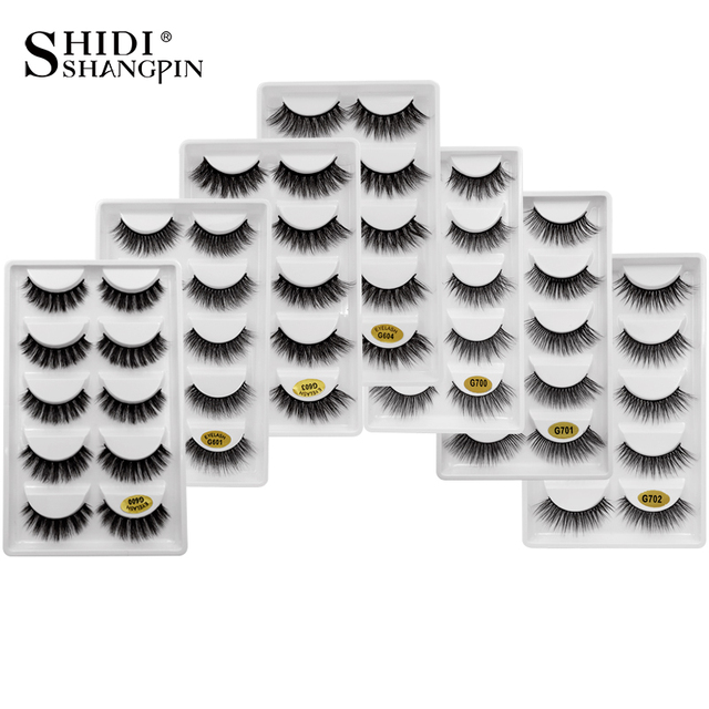 SHIDISHANGPIN 3d mink eyelashes fluffy lashes eyelash extension kit mink eyelashes natural professional makeup 3d false lashes