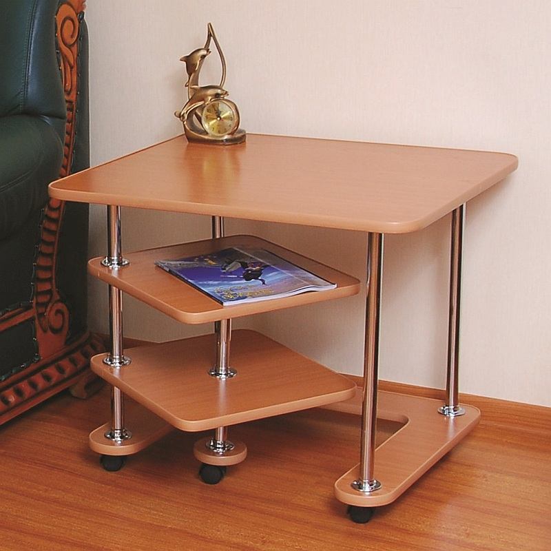 Roll-serving Table, «39A» On Wheels. Furniture For The Living Room, Kitchen, Bedroom. Bedside\computer\kitchen Table On Wheels.