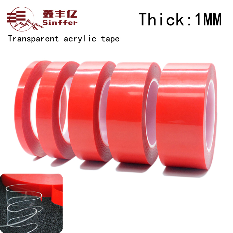 3M(1mm Thick) Super Strong Double-sided Transparent Clear Acrylic Foam Adhesive VHB Tape Multi-role Tape Super sticky 3m super strong double faced adhesive tape foam double sided tape self adhesive pad for mounting fixing pad sticky