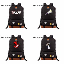 2018 NEW Backpack Persona 5 backpack Canvas cartoon student bookBag women men Knapsack Laptop bag shoulder Packsack 14 Styles