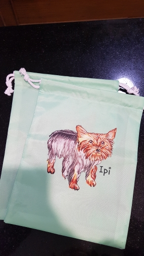 Your image instagram photo Print Custom Individual Nylon Fabric Drawstring Shoes Storage Dust Receive Bag photo review