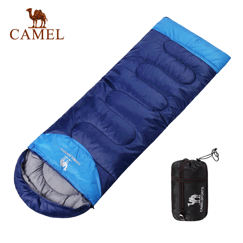 CAMEL 220 75CM Camping Envelope Sleeping Bag Adult Splicing Double Outdoor Travel Hiking Three Seasons Keep