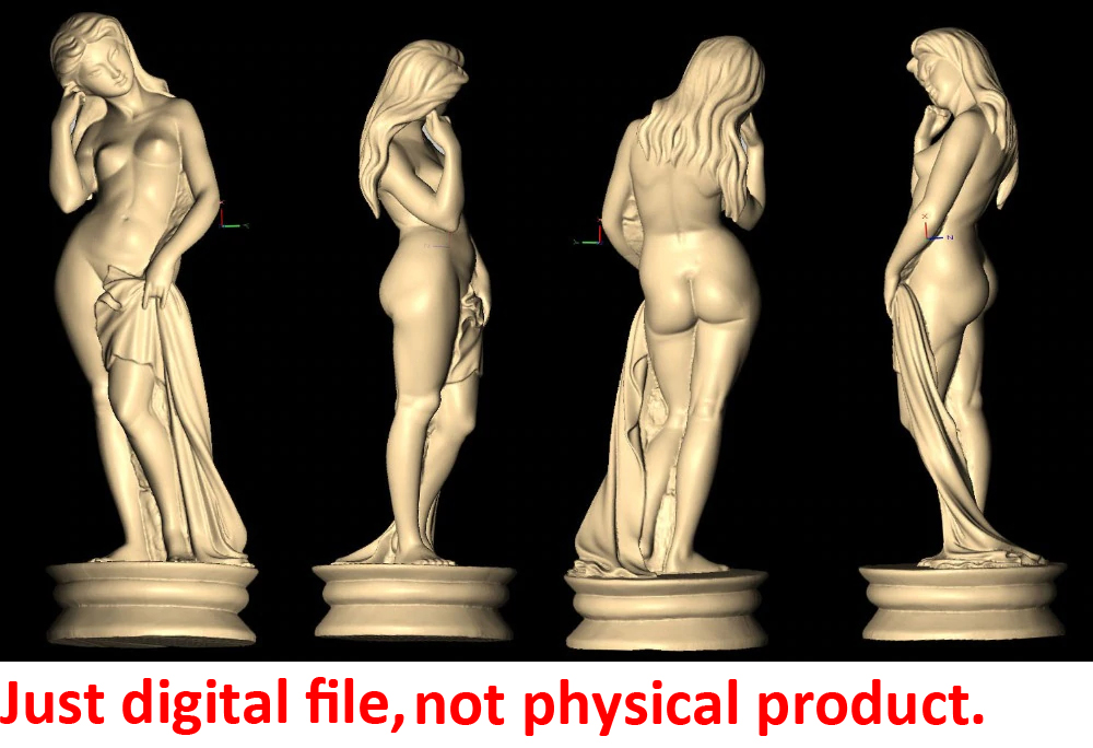 3D Model For Cnc 3D Carved Figure Sculpture Machine In STL File Format Naked Woman Lady Girl