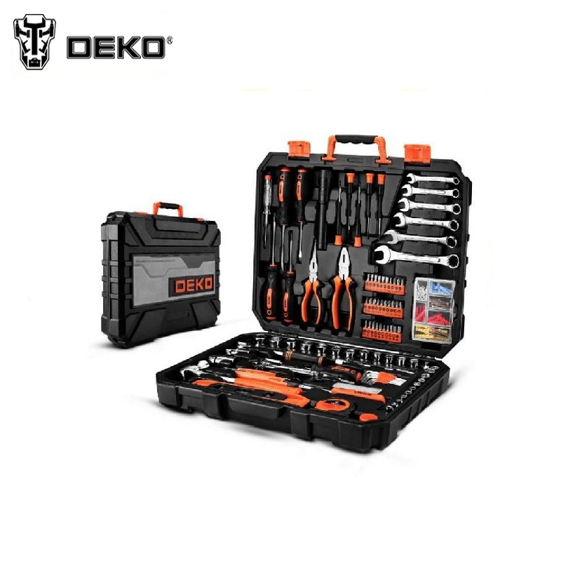 Tool Kit DEKO DKMT208 (208pcs.) Socket Wrench Tool Set Auto Repair Mixed Tool Combination Package Hand Plastic Toolbox magnified eyeglass repair kit