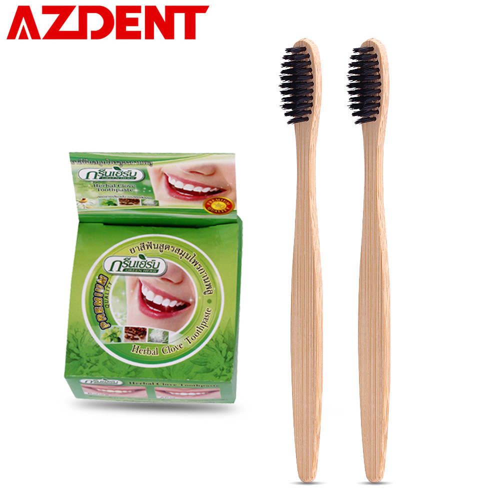 AZDENT Natural Teeth Whitening Toothpaste 10g/25g Coconut Herb Mint Flavor Strong Formula Tooth Gel Whitener Toothbrush Cleaning