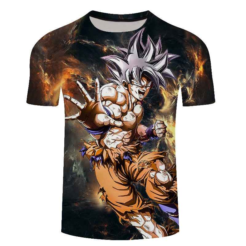 2018 New Fashion 3d Dragon Ball Goku Unisex T Shirt Funny Casual Brand Anime Harajuku T-Shirt Men Streetwear Tee Shirt Plus Size