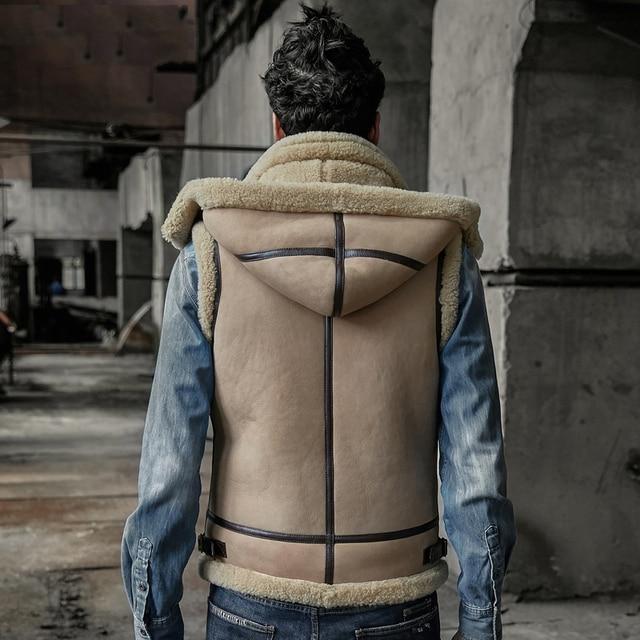 Aliexpress Com Buy Original B3 Real Shearling Jacket Real Leather