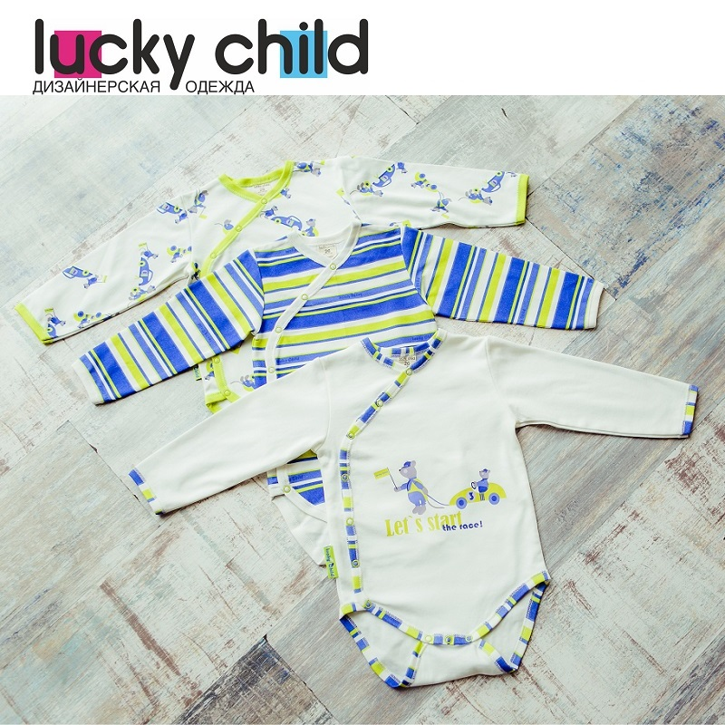 Bodysuits Lucky Child for boys 30-112/3 Body Newborns Babies Baby Clothing Children clothes tank tops made in russia