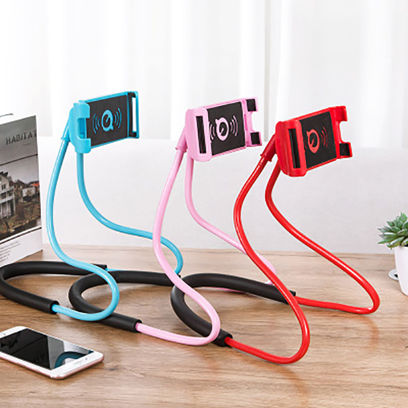 New Lazy Hanging Neck Phone Stands Necklace Cellphone Support Bracket For Samsung Universal Holder For Iphone(China)