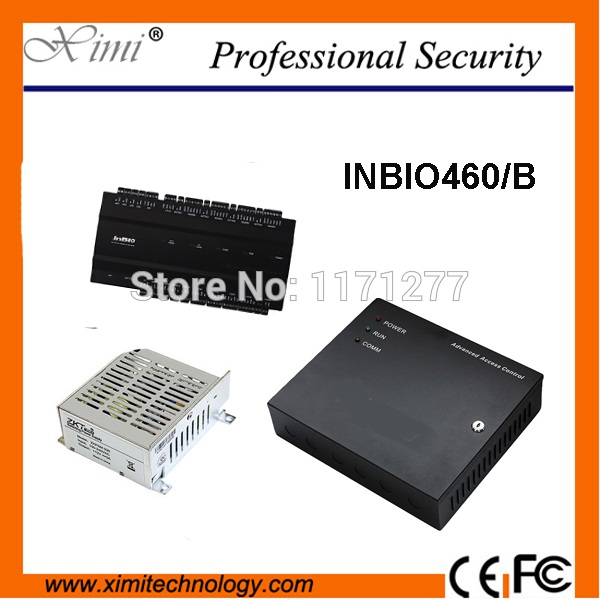 цена на ZK Inbio460 Fingerprint control panel TCP/IP linux system with power protect box battery function access control board