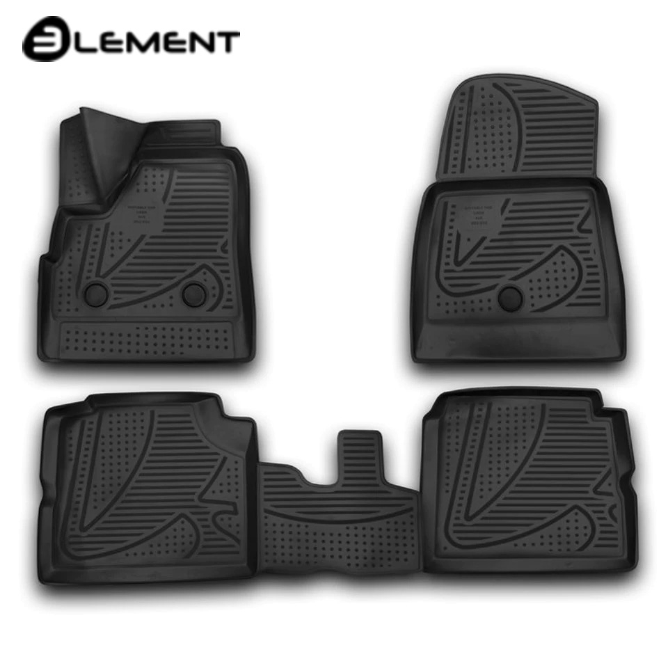 For Lada Niva 2131 4x4 (5-doors) 2009-2017 3D floor mats into saloon 4 pcs/set Element F420250E1 3d floor mats for lada largus element f620250e1