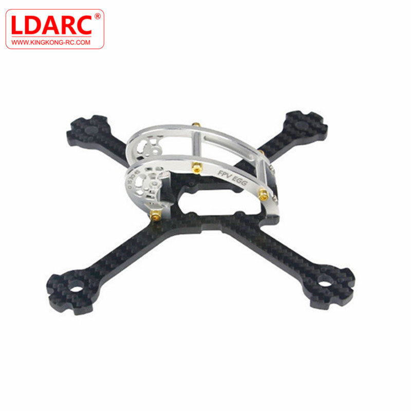 KINGKONG/LDARC FPV Racing Frame Kit FPV EGG PRO 138mm RC Drone 4mm Carbon Fiber+7075 Aluminum For DIY Assembly Multirotor Accs f04305 sim900 gprs gsm development board kit quad band module for diy rc quadcopter drone fpv