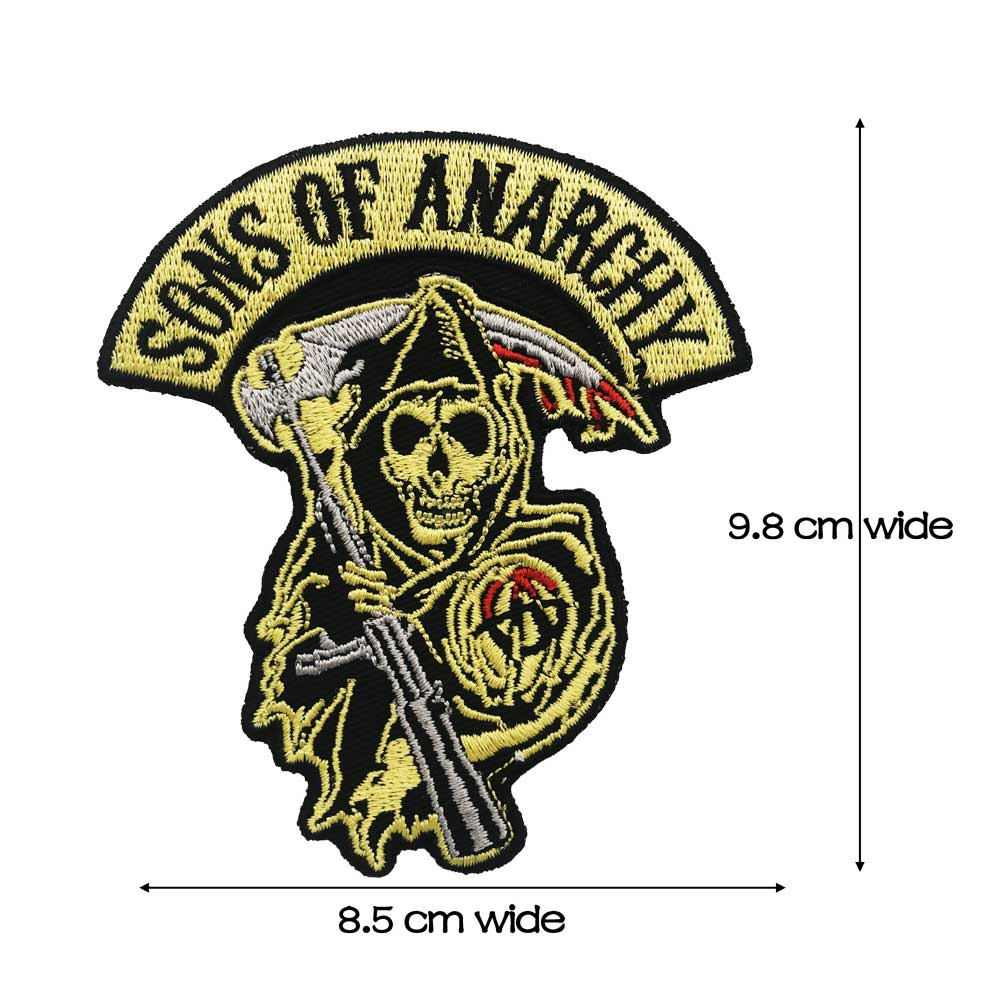 Embroidered Anarchist Sew or Iron on Patch Biker Patch