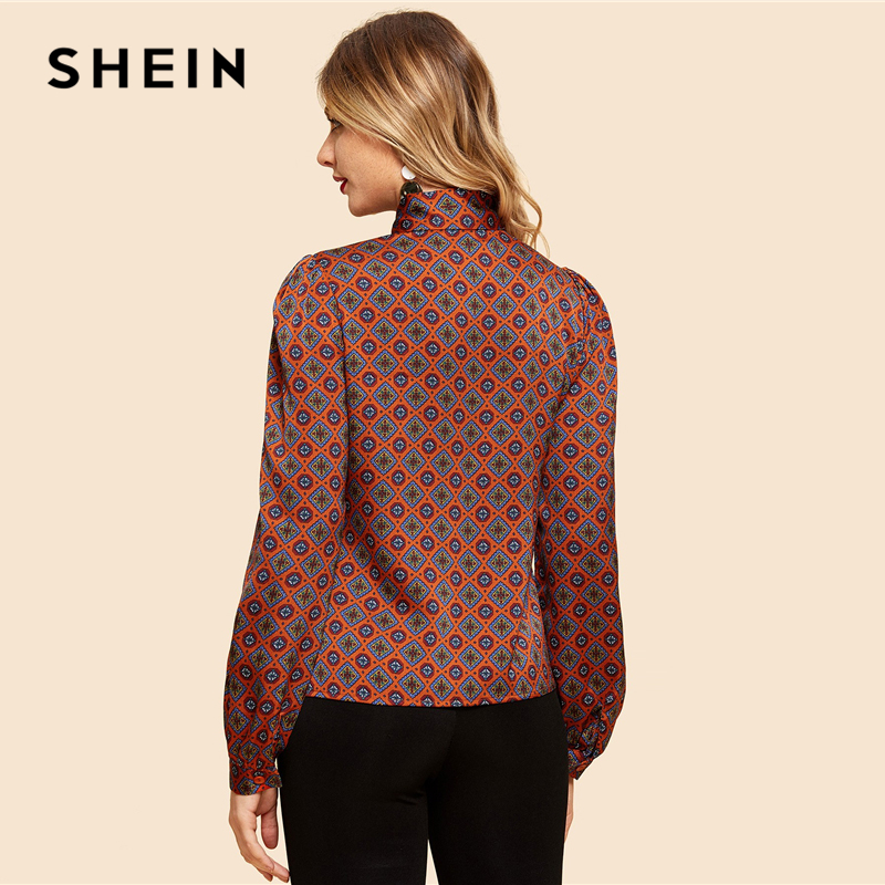 0c3589b868 SHEIN Burgundy Long Sleeve Top – Katling