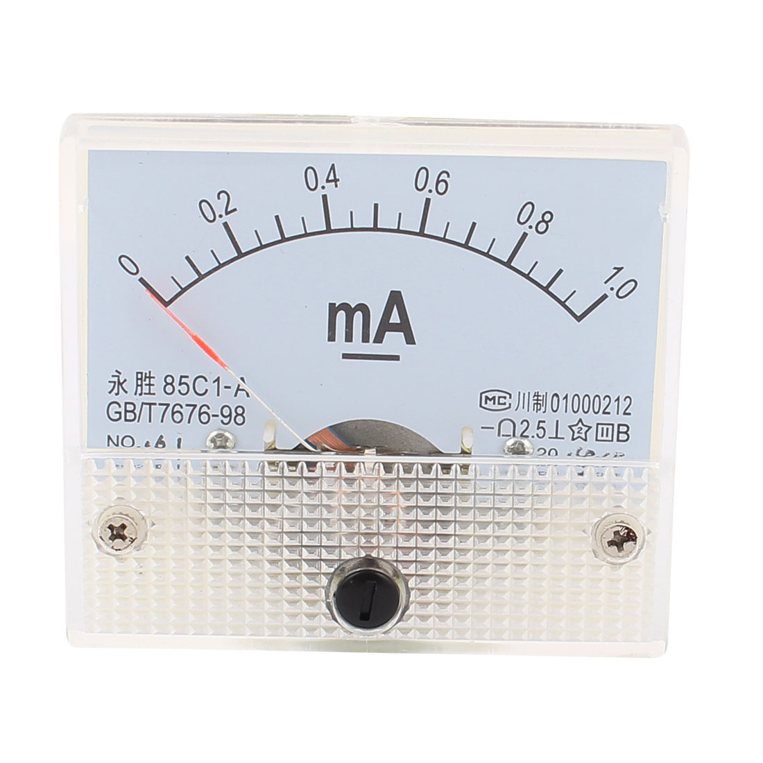 Uxcell 85C1  0-1.0Ma Analog Ammeter Panel Current Meter Ampmeter Gauge White 1ma 2ma Current Meters Electrical Instruments