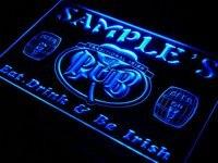 Pa Tm Name Personalized Custom Irish Pub Shamrock Bar Beer Neon Sign