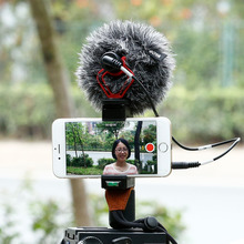 Cell Phone Tripod Mount with Cold Shoe Mount Video Handle Grip Strap Omnidirectional microphone for smartphone