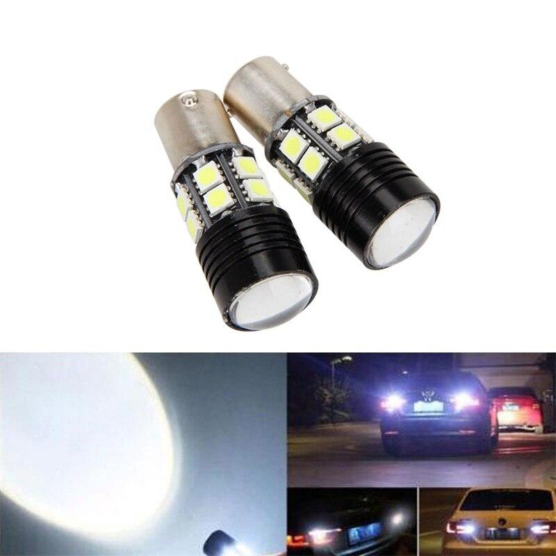 2pcs Super 24SMD 1156 Brake Lamp BA15S  LED 5050 Chip Light Bulb White 7000K 12V