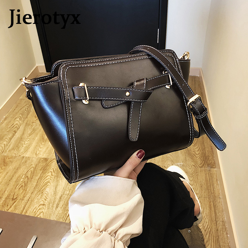 JIEROTYX New PU Leather Women Messenger Bag Plaid Ladies Crossbody Bag Trendy Candy Color Small Flap Drop Shopping Handbag in Top Handle Bags from Luggage Bags