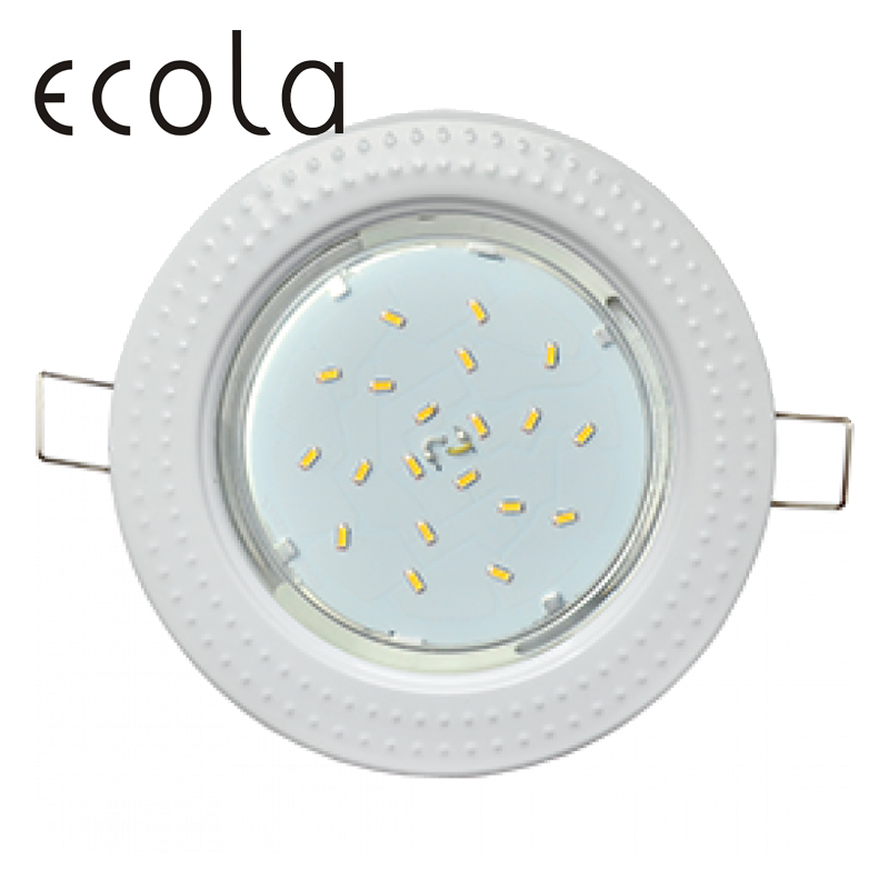 Ecola GX53-H4 Dual Color slim recessed Ceiling Downlight Round Spotlight Hole Spot lamp GX53 Sockets Chasing 36x106mm jtron 10050100w round hole ndfeb magnet silver 2 pcs