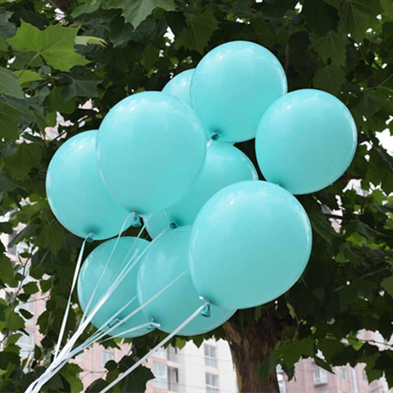 100 ピース 10 インチティファニーブルーラテックス風船誕生日パーティー結婚式の装飾用品バルーン子供のおもちゃの卸売