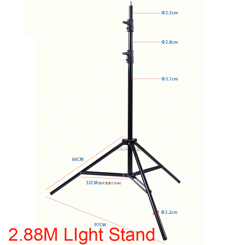 280cm Flash Light Stand 1/4 Screw Head Tripod Ajustable Photo Studio Accessories for HTC VIVE Ring Light Softbox Lamp Support alumotech 5 sec foldable portable stand tripod vive support for camera film photo video