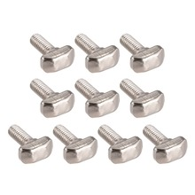 UXCELL 10Pcs Bolts M6 Thread 16mm T-Slot Drop-In Stud Sliding Screw Bolt Carbon Steel 30 Series For Aluminum Alloy Fasteners
