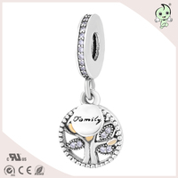Delicated 925 Sterling Silver Family Beads Or Charm Fitting European Famous Silver Bracelet