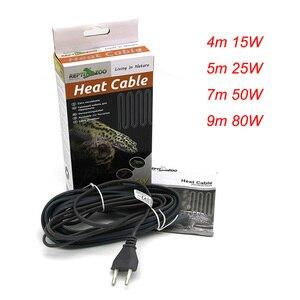 Image 1 - Водонепроницаемый силиконовый резиновый тепловой кабель для рептилий 220 В для обогрева живого дна комнат домашних животных 15 Вт 25 Вт 50 Вт 80 Вт