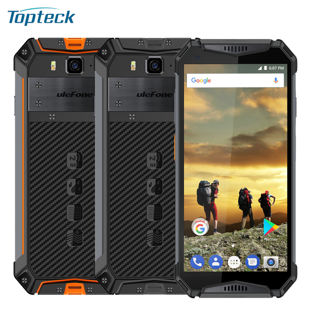 Global Version Ulefone Armor 3 Rugged IP68 Waterproof 4GB 64GB 5.7'' Octa Core Android 8.1 21MP 10300mAh 4G LTE Smartphone-in Cellphones from Cellphones & Telecommunications    1