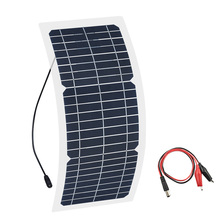 Xinpuguang 12v 10w Transparent semi-flexible silicon Monocrystalline solar panel cell DC module 12vol DIY battery phone adapter