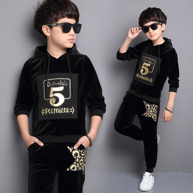 2017 Autumn New Boys Clothing Sets Opera Hoodies Pants South Korea Fashion Clothes For Kids