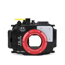 Seafrogs 195FT/60M Underwater camera waterproof diving housing for Olympus TG-5 TG-6 Black as PT-058 цена и фото