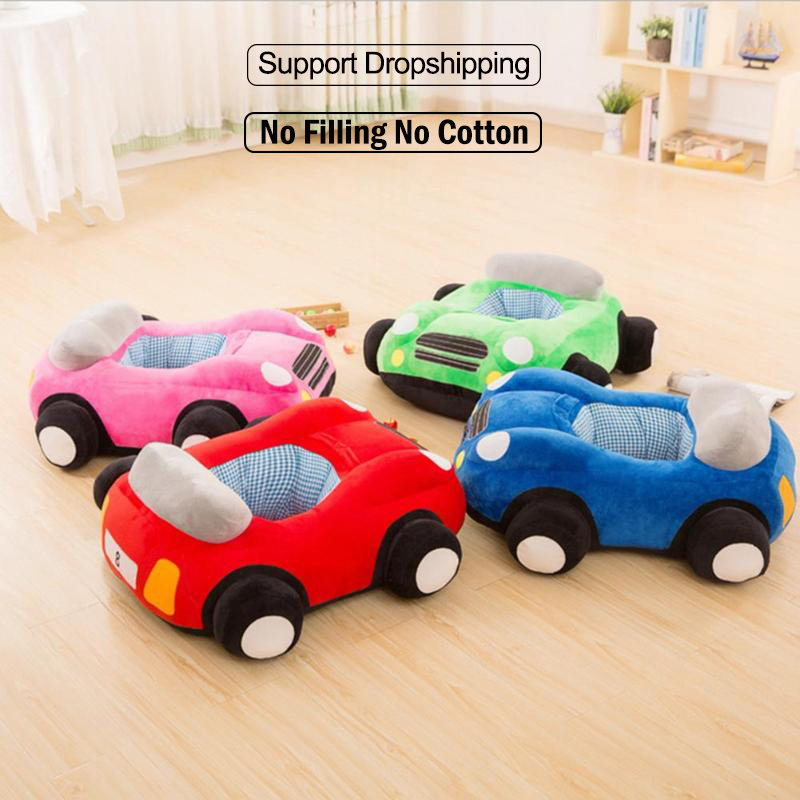 Baby Seats Sofa Toys Car Seat Support Seat Baby Plush Sofa Without Filling Baby Cartoon Animal Chair Baby Toys Car Sofa Toy