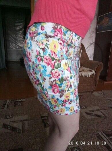 IMucci/с цветочным принтом Для женщин юбка сезон: весна–лето с принтом для девочек короткие юбки сексуальные бедра синий и красный цвета Высокая Талия Офисные женские туфли ткань