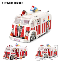 XB08004 1000Pcs MOC Ice Cream Car Building Blocks Model Compatible LegoINGLYs With Figures Educational Toys For Children Gifts