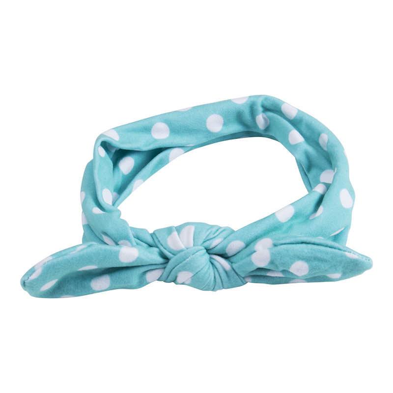 2019 diademas para bebés recién nacidos con estampado de puntos, gorros casuales de algodón suave, lazo para niños y niñas, accesorios para la cabeza, nuevos