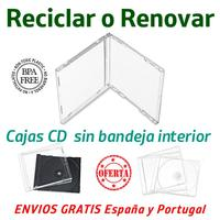 50 Cases CD box Jewell Box without tray in polystyrene transparent OFFER DISCOUNT 84% purchasing 200