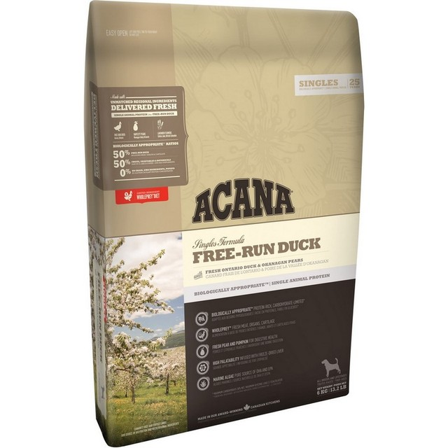 Acana Dog Free-Run Duck для щенков и взрослых собак, утка, 2 кг