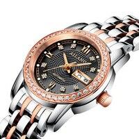 AILANG nữ kim cương sang trọng tự động cơ xem sapphire nữ đồng hồ kinh doanh thời trang phụ nữ đồng hồ chống thấm nước
