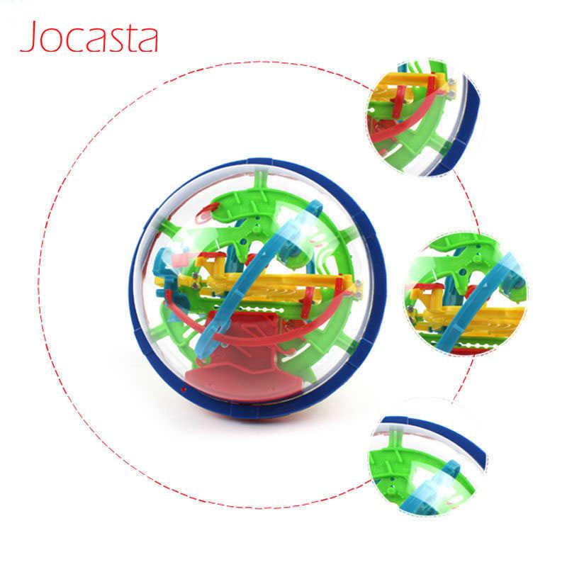 3D волшебный лабиринт мяч головоломка игра игрушки Роллинг IQ развивающая игрушка мяч 100 шагов баланс мозговой Прорезыватель Развивающие игрушки для детей #