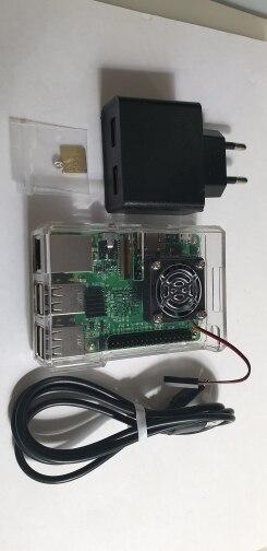 D Raspberry Pi 3 Model B starter kit-pi 3 board / pi 3 case /EU power plug/with logo Heatsinks pi3 b/pi 3b with wifi & bluetooth
