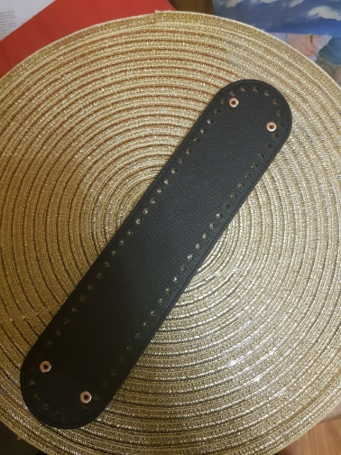 32x7cm Ovale lange bodem met gaten vervanging voor breien tas PU lederen vrouwen schoudertas handgemaakte DIY accessoires KZBT015 photo review