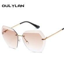 1664346f12 Oulylan sin montura de corte de diamante lente gafas de sol mujer marca  diseñador de tonos gafas de sol Oversize Hombre Mujer ga.